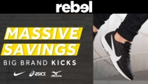 Hit Your Fitness Goal with Big Brand Kicks for All Ages from Rebel! Enjoy Massive Savings with Cult-Faves Under Armour, Nike, Asics, Adidas & More