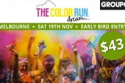 Have the Time of Your Life! Get an Early Bird Tix to The Color Run™ Dream Tour @ Centennial Park! Incl. T-Shirt, Packet of Colour, & More. + BF