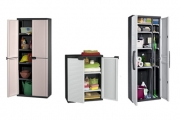 Solve Your Storage Problems w/ a Keter Cabinet! Choose from 4 Styles Feat. Adjustable Shelves & Lock. Ideal for Offices, Laundries & Garages