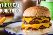 It's Burger O'Clock at the Local Burger Co w/ a Juicy Gourmet Burger, Chips or Sweet Potato Chips & Drink for Just $12! Available in 3 Locations