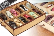 Combat Clutter & Stay Organised w/ an Under Bed Shoe Storage Box from $9 - Including Delivery! Saves Space & Protects Shoes from Dust