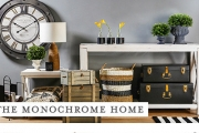 Create a Sophisticated Look in Your Home w/ the Monochrome Makeover Collection! Shop Decor, Furniture & More in a Mix of Patterns & Textures