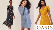Spring is Just Around the Corner! Update Your Wardrobe with Fashionable Dresses from Oasis! Shop the Animal Button Dress, Spot Ruffle Dress & More