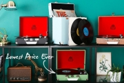 Calling all Retro Aficionados + Music Lovers to Check Out this GPO Sale! Portable Record Players, Bluetooth Speakers, Record Cases & More