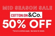 Don't Miss the Mid-Season Sale for Much-Loved Cotton On! Shop Great Finds w/ 50% Off Selected Items for Men, Women & Kids. Apparel, Intimates & More