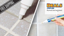 Refresh those Tired Tiles with a Whitening Grout & Tile Marker! Dries Fast to Cover Dirty Grout. Easy to Use, Permanent & Water-Resistant