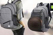 Transport Your Stuff in Style w/ a Canvas Backpack! Ft. Built-in Hidden Pocket, Detachable Netting, USB Access Port & More. Avail. in Grey & Black