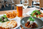 Incredible 2-Course Meal w/ Wine or Beer at Boutique CBD Hotel, the Stag! Ft. Seasonal Produce, Think Confit Pork Belly, Smoked Carrot Puree & More
