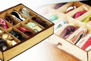 Keep Your Shoes Organised and Tidy with this Handy Under Bed Shoe Storage Unit! Each Unit Holds Up to 12 Pairs of Shoes from Only $12 Plus P&H