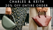 Shop Trendy Shoes, Bags & Accessories by Charles & Keith! 20% Off Entire Order w/ Code: CHARLESKEITH20. Min. Spend $100. Valid till 26/08. Free Shipping