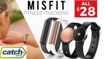 Forget Spending a Fortune on Fitness Trackers w/ this Range by Misfit! All Trackers $28! Range of Designs Incl. Leather Bands, Swimproof Cylinder & More