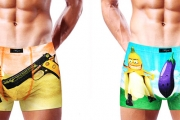 Keep Your Underwear Fun w/ these Men's 3D Boxer Briefs! Made of Cotton Spandex Blend, 10 Fun Designs to Choose From, Available in 4 Different Sizes
