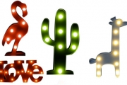 Add a Little Fun to Your Decor w/ these Unique Decorative LED Lights! Shapes Incl. Pineapple, Flamingo, Christmas Tree, Love & More