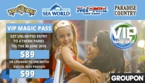 Tear Up Australia's Favourite Theme Parks! Unlimited 12-Month Entry to Warner Bros. Movie World, Sea World, Wet'n'Wild & More. Valid to 30 June 2018