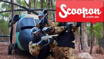 Round Up the Troops for a Splattering Adventure of All-Day Paintball Game w/ Delta Force Paintball! Incl. 100 Paintballs Per Person. Upgrade for 200