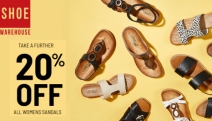 Step Out in Style this Spring with a Further 20% Off All Women's Sandals @ Shoe Warehouse! Colours & Styles for Every Outfit. Use Code: SPRING20