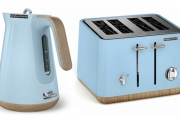 Need a Kitchen Appliance Makeover? Shop the Morphy Richards Scandi Azure Aspect 1.5L Kettle or Four-Slice Toaster! Contemporary Design. Opt for Both