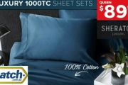 Prepare for the Warmer Months with Sheraton Luxury 100% Cotton 1000TC Sheet Sets! Shop Queen to Super King Styles in a Range of Neutral Colours