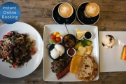 Start the Day Right w/ a 3-Course Brunch for 2 @ Claire's Gallery, Balmain! Incl. Signature Brekkie Platter w/ Eggs, Chorizo, Halloumi Plus Lots More