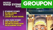 Experience the Best of Sydney w/ a 90-Min Vivid Cruise Aboard a Luxury Glass Vessel Plus Get a Luna Park Unlimited Rides Pass to Use During Vivid!