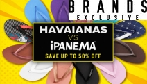 Thongs Season is Here & Who Will Win the Battle for Your Feet? Havaianas vs Ipanema! Up To 50% Off a Huge Range of Colours, Sizes & Styles for Summer