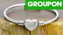 Put Your Heart on Their Wrist w/ a Heart-Shaped Charm Cable Bracelet! Personalised Name Initial, Adjustable Fit & Hypoallergenic, Great Gift Idea