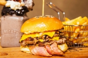 Attention Burger Lovers! Bite into a Burger & Shake Combo for Just $15 at Flame 400 Cafe & Burgers! Choice of Burger Incl. Burger Down Under & More