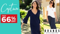 Spring into Style w/ the Capture Women's Apparel & Footwear Sale! Enjoy Up to 66% Off On-Trend Denim, Tunics, Jackets, Kaftans, Flats, Sandals & More