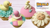 Master a New Art w/ a 3-Hr 'Oh Baby' Cupcake & Cookie Decorating Masterclass for Beginners at Cake Decorating Solutions! Take 5 Cupcakes Home