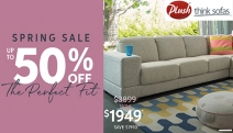 Makeover Your Space for the New Season with the Plush Spring Sale! Enjoy Up to 50% Off Selected Styles! Ft. Leather Sofas, Fabric Sofas & Lots More