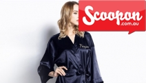 Staying Home? Upgrade Your Comfort Level w/ a Personalised Satin Kimono Robe! Plus P&H. Customise w/ Up to 12 Characters in Your Choice of Font