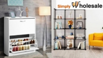 Keep Your Home Organised & Tidy with the Simply Wholesale Storage Solutions! Shop Cube Cabinet Wardrobes, Shoe Racks, Wine Racks, Tool Sheds + More