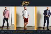 Autumn's Just Around the Corner! Shop Johnny Bigg's New Season Looks - On-Trend Fashion for Big & Tall Guys! Suits, Denim, Knits, Jackets & More