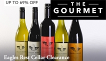Let Your Tastebuds Soar w/ the Eagles Rest Cellar Clearance! Your Choice of Chardonnay, Shiraz or Cab Sav from Award-Winning Hunter Valley Vineyard