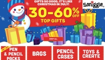 Stock Up On the Coolest Stationery Around Before Another Term Begins w/ the Xmas in July Sale @ Smiggle! Shop Up to 60% Off Pens, Pencil Cases & More