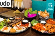 Dine on Delish Lebanese Fare w/ a Lunch or Dinner + Wine for 2 @ The Hills Middle Eastern! Ft. Hills Mixed Platter + Meat or Chicken Shawarma Platter
