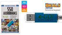 Shop Every Book Lover's Dream w/ e-Go! Audio Library: The Best Classics 550 Audiobooks. 32GB Flash Drive Incl. Oscar Wilde, Mark Twain & More