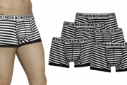 Who Doesn't Love Bonds Briefs? Stock Up on 5-Pk Men's Bonds Fit Trunks! Ft. Supportive Pouch, Functional Fly-Front & Leg Binds to Prevent Ride Up