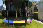 Get Your Little Ones Outdoors w/ a Kahuna 6ft Kids' Trampoline w/ Net! Opt to Incl. Basketball Set. Ft. Zip & Click Safety Lock, 1-Yr Warranty & More