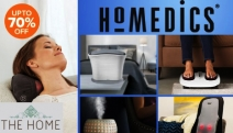 Relax & Rejuvenate at Home w/ the HoMedics Personal Care & Wellness Appliances! Get Up to 70% Off Massage Pillows, Air Purifiers, Foot Spas & More