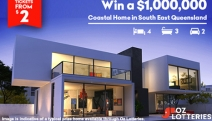 Dreaming of Coastal Luxury? Don't Miss the Chance to Win a $1,000,000 Prize Home in South East Queensland with Oz Lotteries! Tickets from Just $2!