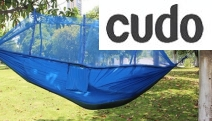 Have a Cozy Place to Lounge this Summer w/ this 2-Person Hammock w/ Built-In Mosquito Net. Made from Parachute-Style Material w/ 300kg Max Capacity