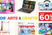 Unleash Your Child's Creativity with Up to 60% Off Kids' Arts & Crafts! Shop Sketching & Colouring Books, Travel Spirograph Kits, Super Sand Toys & More