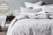 Have Sweet Dreams Year Round w/ Crisp & Cool Linen Bedding! Shop Quilt Cover Sets & Pillowcases Plus Cotton Sateen Sheet Sets & More