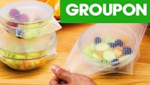 Keep Food Fresher for Longer w/ these Reusable & Adjustable Silicone Food Covers! Stretches to Fit All Shapes & Sizes of Containers in 8 or 16 Pieces