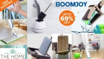Fly Through Chores w/ Up to 69% Off Boomjoy Cleaning Tools! Ft. Hands-Free Flat Mop w/ Bucket, Microfibre Duster, Window Cleaner & More. Free Shipping