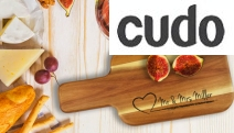 Add a Personal Touch to Your Next Gift w/ an Engraved Acacia Wood Cheese or Chopping Board! Choice of Designs Incl. Round Paddle Board & More