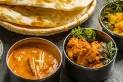 3-Course Indian Dinner w/ Sides for Two at Calcutta Curry House! Tuck Into Entrees, Mains Like Beef Masala, Rice, Naans & Gulab Jamun Dessert
