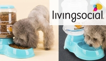 Keep Your Pet Happy Even When You're Not at Home with a 3.8L Automatic Pet Water or Food Feeder. Uses Gravity to Keep the Bowl Full