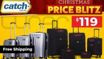 Weekend Away or Jet Setting Overseas? Get Packing w/ Lunar Luggage Sets. 5-Piece Softcase or 3-Piece Hard Trolley Set Christmas Price Blitz Just $119!